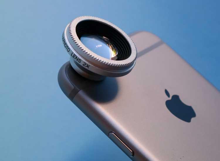 This is a Photojojo telephoto lens