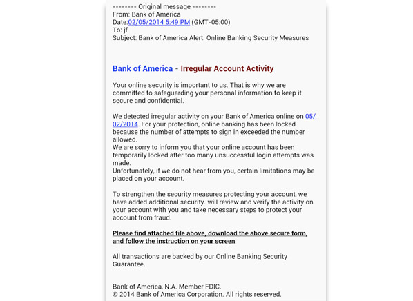 Banking Alert E Mail Scams Identity Theft Consumer
