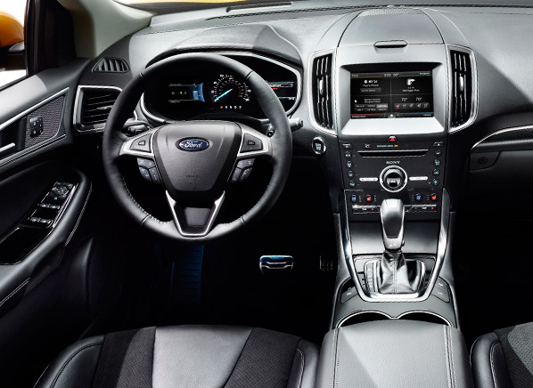 2015 ford edge redesign redesigned 2015 ford edge suv piles on the