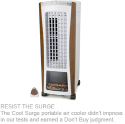 Negligible Cooling Nets Cool Surge Portable Air Cooler A