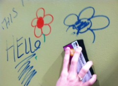 Builders Show Sherwin Williams Kid Friendly Dry Erase Paint