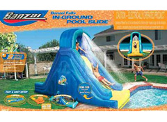 a recall of banzai inflatable pool slides previously sold at walmart and toys r us outlets has been announced by the consumer product safety commission - Inflatable Pool Slide