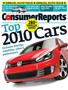 2010 Consumer Reports Automaker Report Cards