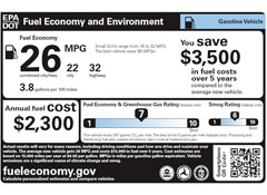 EPA and DOT release new window stickers to aid in choosing ...