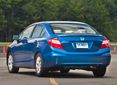 2012 Honda Civic LX Review Scores Low  Consumer Reports