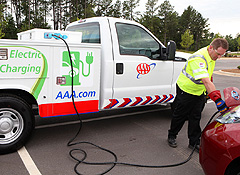 AAA offers roadside assistance trucks to charge electric cars