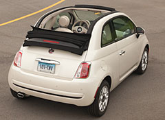 fiat 500 convertible finds a fan among the staff