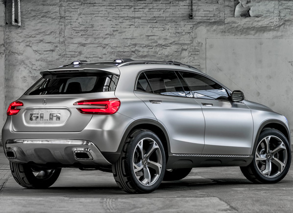 Striking Mercedes Benz Suv Concept Boasts Laser Beams Projectors And Turbo Engine