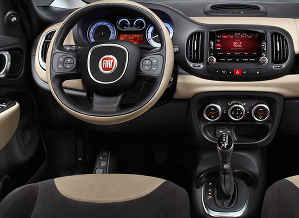 fiat 500l interior photos. Black Bedroom Furniture Sets. Home Design Ideas