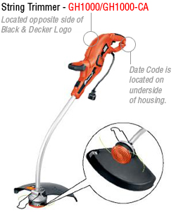 cpsc announces recall of black decker gh1000 grasshog corded rh consumerreports org black decker trimmer gh1000 manual Black Decker ST1000