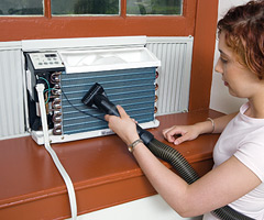 how to clean outdoor air condtioner fins