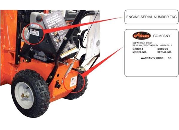 Ariens 920014 snow blower recalled due to fire hazard