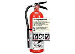 An aerosol fire spray is no substitute for a fire extinguisher