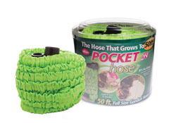 Flexible garden hoses expand to meet your watering needs