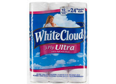 Attention Walmart shoppers! White Cloud toilet paper is tops.