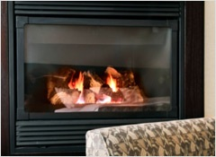 Preventing burns from hot fireplace glass